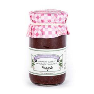 Confettura extra senza zuccheri aggiunti di Fragole 200 gr